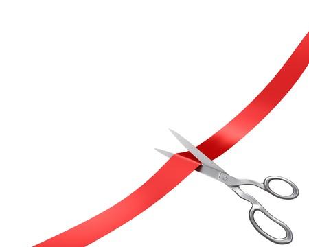 Scissors cut ribbon, corner version