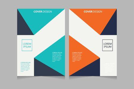 Illustration pour Annual report, pamphlet, presentation, brochure. Front page, book cover layout design. Cover design template. Abstract Cover Design. - image libre de droit