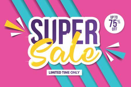 Illustration pour Super Sale Banner Template. Sale Banner Design. Abstract Sale Banner. - image libre de droit