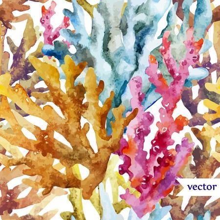 Illustration pour colorful Corals background  - image libre de droit