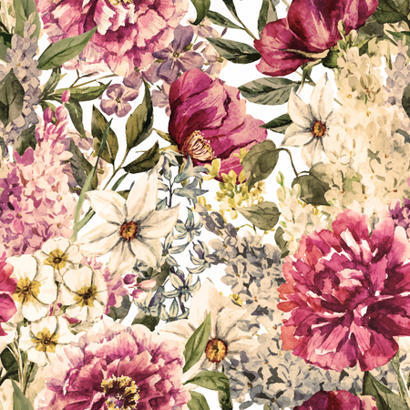 Beautiful vector image with nice watercolor floral patternのイラスト素材