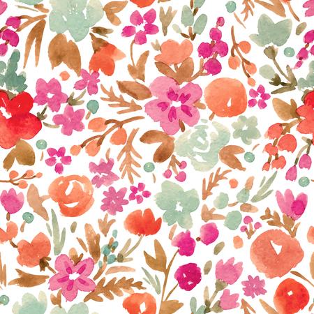 Ilustración de Watercolor vector abstract floral pattern - Imagen libre de derechos