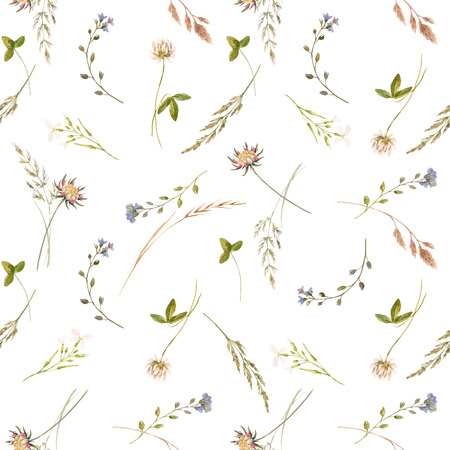 Illustration for Watercolor floral vector pattern - Royalty Free Image