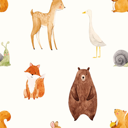 Illustration for Watercolor baby vector pattern - Royalty Free Image