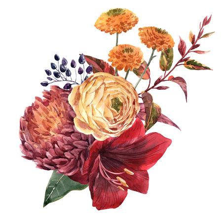 Foto de Watercolor flowers illustration - Imagen libre de derechos
