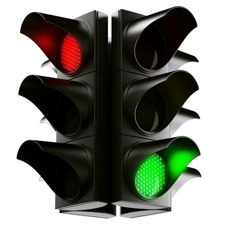 3d rendering traffic light