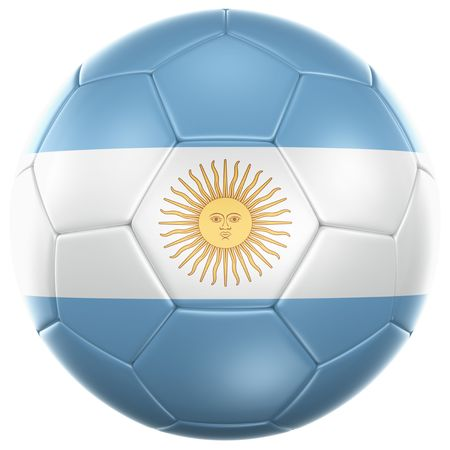 3d rendering of a Argentinian soccer ball isolated on a white background