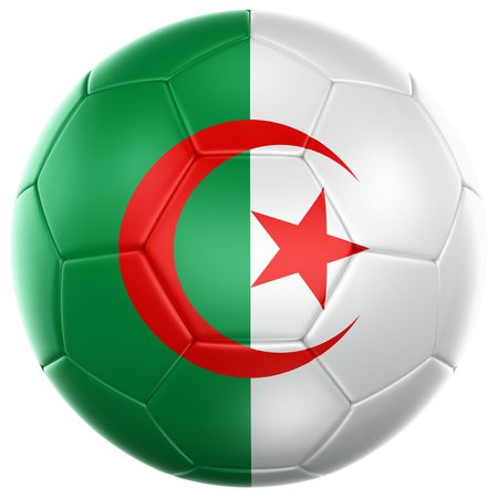3d rendering of a Algerian soccer ball isolated on a white background