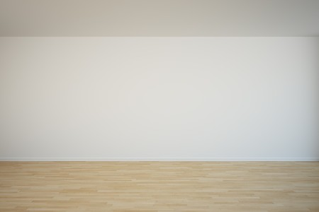 3d rendering of an empty wall