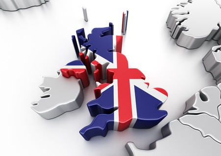 3d rendering of United Kingdom