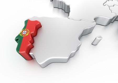3d rendering of Portugal