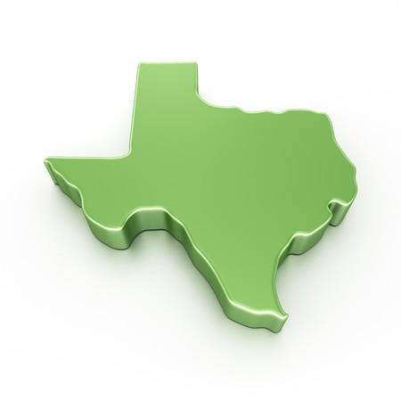 3d rendering of Texas