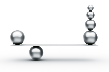 Photo for 3d rendering of balls balancing - Royalty Free Image