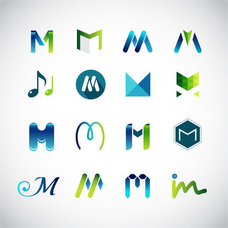 Abstract icons based on the letter M
