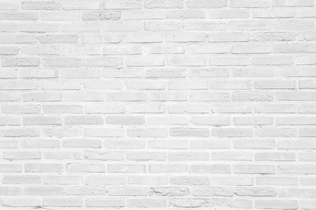 White grunge brick wall texture or pattern for background