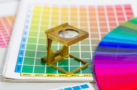 color guide and color fan with linen tester