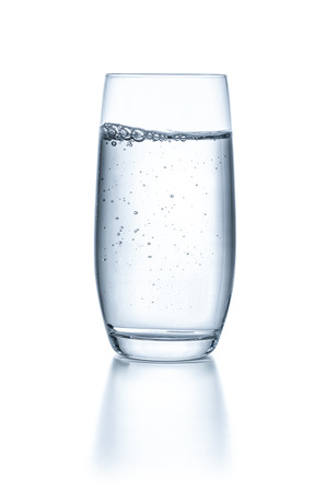Photo for Glass with water on a white background - Royalty Free Image