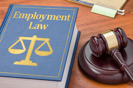 Foto de A law book with a gavel - Employment Law - Imagen libre de derechos