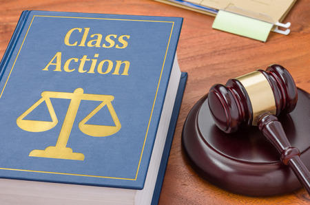 Photo pour A law book with a gavel - Class action - image libre de droit