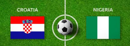 Football match Croatia vs. Nigeria