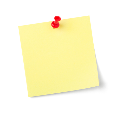 Photo pour A sticky note with copy space on a white background - image libre de droit