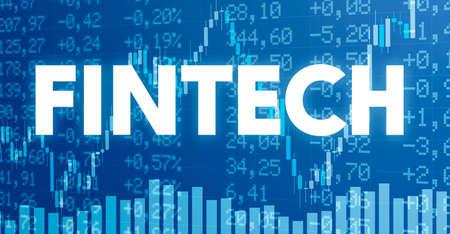 Photo pour Conceptual image with financial charts and graphs - Fintech - image libre de droit
