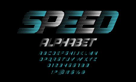Ilustración de Speed style alphabet - Imagen libre de derechos