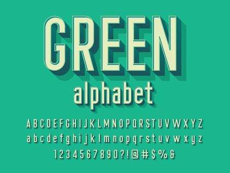 Illustration pour Vector of modern alphabet design with uppercase, lowercase, numbers and symbols - image libre de droit