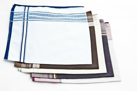 A men's handkerchief on white background