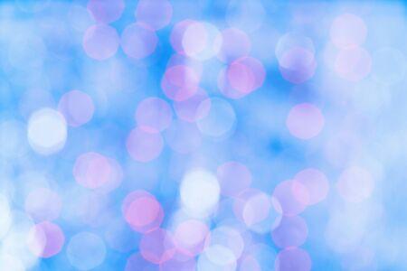 Photo pour Gentle bokeh blue and purple defocused lights - image libre de droit