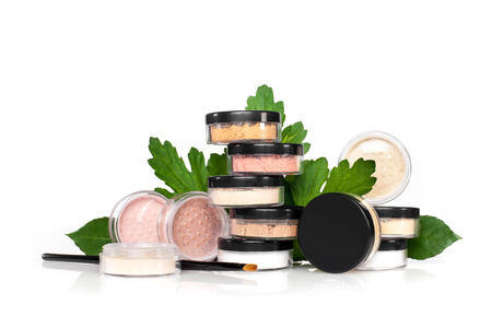 composition of the jars with cosmetics
