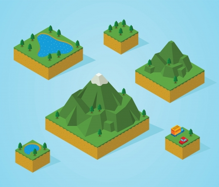 pre assembly isometric map-mountain