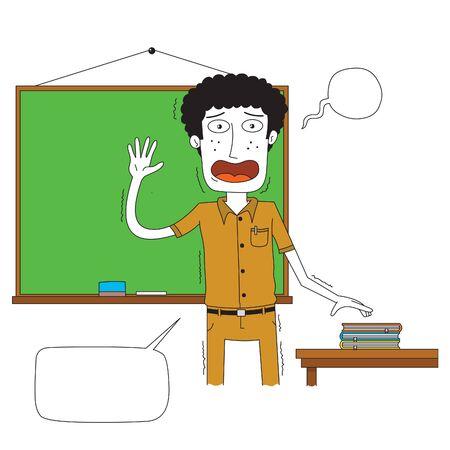 Illustration pour teaching for the first time - image libre de droit