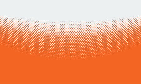 Illustrated Vector Abstract Orange Background With Halftone