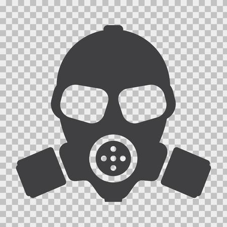 Illustration pour Gas mask with flat and solid color style. - image libre de droit