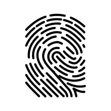Illustration pour Fingerprint Scan Biometric concept Icon. Minimalism style vector illustration. - image libre de droit