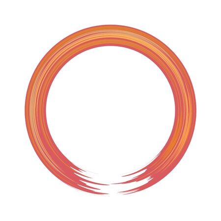 Illustration pour Hand-painted acryllic circle or round border. Flat and solid color vector illustration. - image libre de droit