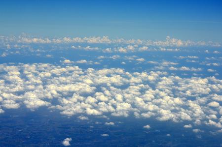 Plane and blue sky