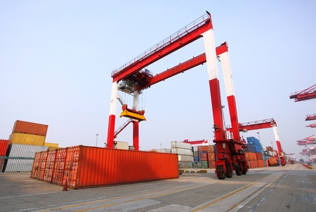 Container terminal Qingdao port of China