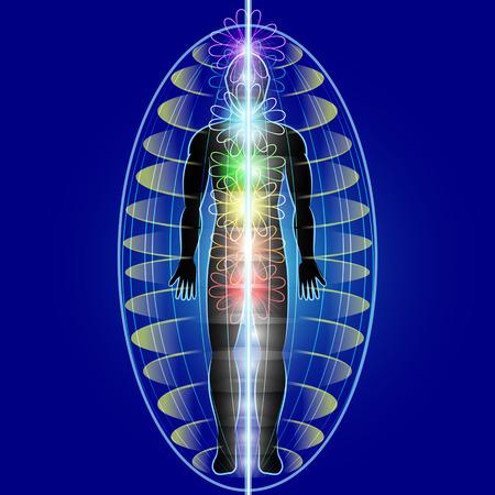 Ilustración de Human aura, vector - Imagen libre de derechos
