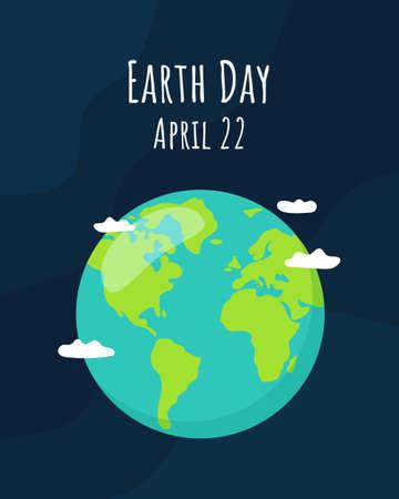Illustration pour Earth Day concept. Vector illustration - image libre de droit