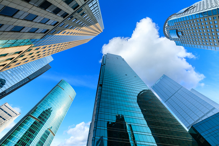 Photo pour Contemporary architectural office building,urban landscape in Shanghai - image libre de droit