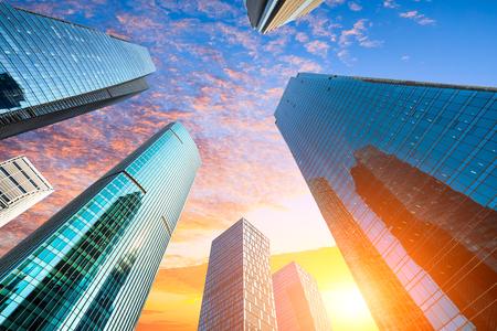 Foto de low angle view of skyscrapers in Shanghai,China - Imagen libre de derechos