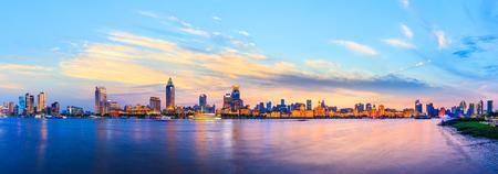 city skyline night scene at the Bund,Shanghaiの素材 [FY310124042765]