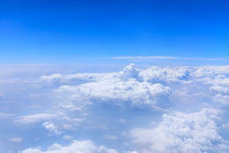 Photo pour Skyline View above the Clouds from airplane,sky cloud landscape. - image libre de droit