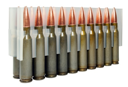 Hunting cartridges manufactured in Russia.  Bullet weight -168 gr , full metal jacket boat tail , non-corrosive , lacquered steel case