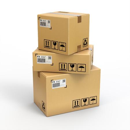 Photo for Cargo boxs on white background,isolated on white - Royalty Free Image