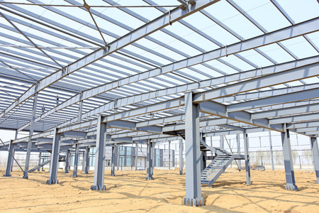 The steel structure, is under construction