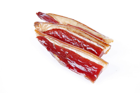 Chinese bacon, smoked, taste is very good, close-up