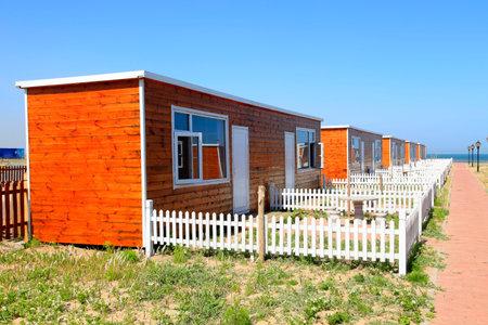 wooden houses landscape view